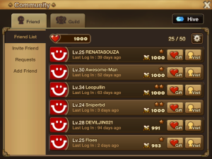 Sending social points in Summoners War