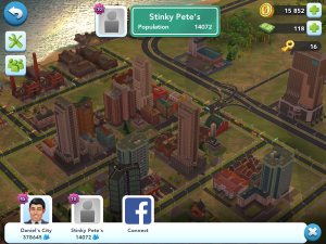 Visiting friends in SimCity: BuildIt